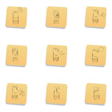 Sketchy communication icons Royalty Free Stock Images
