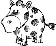 Sketchy Cow Vector Illustration Stock Photo