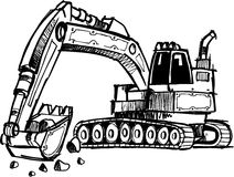 Sketchy Digger Illustration. Sketchy Digger Construction Vector Illustration Stock Photo