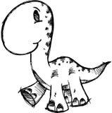 Sketchy Dinosaur Vector Illustration Stock Images