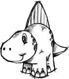 Sketchy Dinosaur Vector Illustration Royalty Free Stock Image