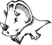 Sketchy Dinosaur Vector Illustration Royalty Free Stock Photography