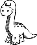 Sketchy Dinosaur Vector Illustration Stock Photography
