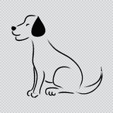 Sketchy of dog Labrador Stock Images