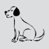 Sketchy of dog Labrador Royalty Free Stock Photos