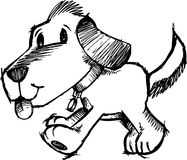 Sketchy Dog Vector Illustration. Cute Sketchy Dog Vector Illustration Royalty Free Stock Image