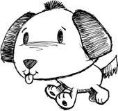 Sketchy Dog Vector Illustration. Sketchy puppy Dog Vector Illustration Royalty Free Stock Photos