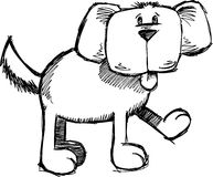 Sketchy Dog Vector Illustration. Sketchy Puppy Dog Vector Illustration Stock Photos