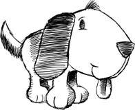 Sketchy Dog Vector Illustration. Sketchy Puppy Dog Vector Illustration Royalty Free Stock Images