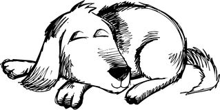 Sketchy Dog Vector Illustration. Cute Sketchy Dog Vector Illustration Royalty Free Stock Photos