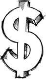 Sketchy Dollar symbol Vector Stock Image
