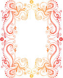 Sketchy Doodle Frame Border. Hand-Drawn Sketchy Doodle Flowers and Vines Frame Border Vector Illustration Stock Photos