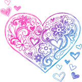 Sketchy Doodle Heart Illustration stock illustration