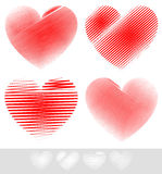 Sketchy, Doodle Heart Set Royalty Free Stock Photo