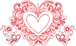 Sketchy Doodle Heart Vector Royalty Free Stock Photo