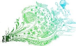 Sketchy doodle of open door vector Royalty Free Stock Photos