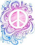Sketchy Doodle Peace Sign Vector royalty free illustration