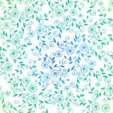 Sketchy Doodle Vines Seamless Repeat Pattern. Vector Illustration royalty free illustration