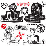 Sketchy doodles Stock Photos