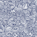 Sketchy doodles decorative floral ornamental. Sketchy doodles decorative floral outline ornamental seamless pattern Stock Photography