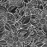 Sketchy doodles decorative floral ornamental. Sketchy doodles decorative floral outline ornamental seamless pattern Royalty Free Stock Images