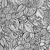 Sketchy doodles decorative floral ornamental. Sketchy doodles decorative floral outline ornamental seamless pattern Royalty Free Stock Photo