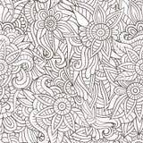 Sketchy doodles decorative floral outline Stock Images