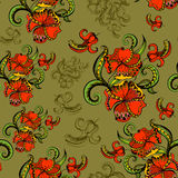 Sketchy doodles decorative floral pattern Stock Photography