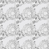 Sketchy doodles decorative lace pattern Royalty Free Stock Photography