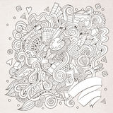 Sketchy doodles hand drawn art and craft Royalty Free Stock Photography
