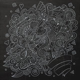 Sketchy doodles hand drawn art and craft Royalty Free Stock Images