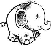 Sketchy Elephant vector Royalty Free Stock Photos