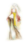 Sketchy Fashion Illustration. Fashion illustration created in a loose, sketchy style Stock Photography
