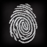 Sketchy fingerprint Royalty Free Stock Photography