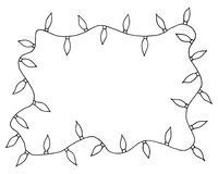 Sketchy frames illustration. Hand drawn festive christmas lights. Sketchy frames illustration. Hand drawn festive christmas lights with place for your text in Royalty Free Stock Photo