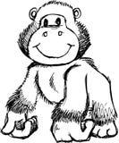 Sketchy Gorilla Vector Illustration Royalty Free Stock Photos