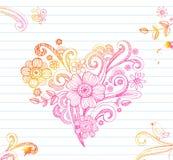 Sketchy Heart. Sketchy Doodle Heart for Valentine's day,  Illustration Stock Images
