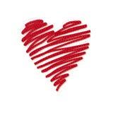 Sketchy heart Stock Photo