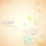 Sketchy Heart in Love Background Stock Image