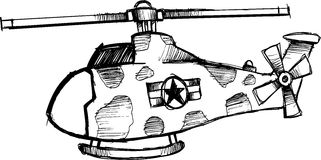Sketchy Helicopter vector. Sketchy Hand Drawn Helicopter vector Stock Photo