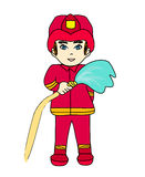 Sketchy illustration of a fireman Royalty Free Stock Photos