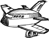 Sketchy Jumbo Jet Vector Royalty Free Stock Images