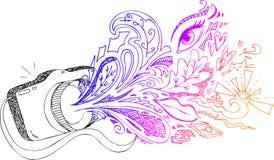 Sketchy klotter för fotokamera vektor illustrationer