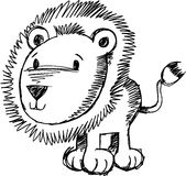 Sketchy Lion Vector Illustration Royalty Free Stock Image