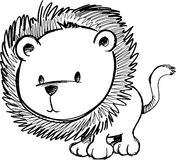 Sketchy Lion Vector Illustration Stock Photos