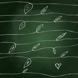 Sketchy love heart design on blackboard Stock Photo