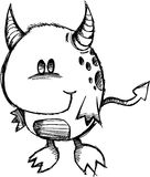 Sketchy Monster Devil Vector Stock Photography