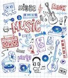 Sketchy Music Illustrations Royalty Free Stock Images