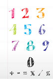 Sketchy number text. Illustration of sketchy number text on white background Royalty Free Stock Image