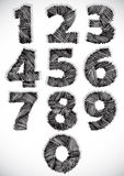 Sketchy numbers set. Stock Photos